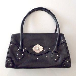 Black leather and suede Michael Kors handbag